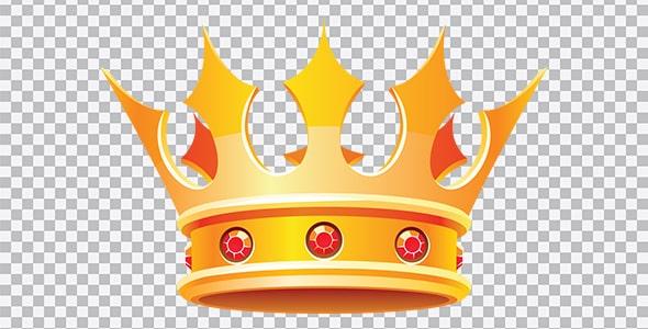 تصویر PNG تاج پادشاهی و ملکه
