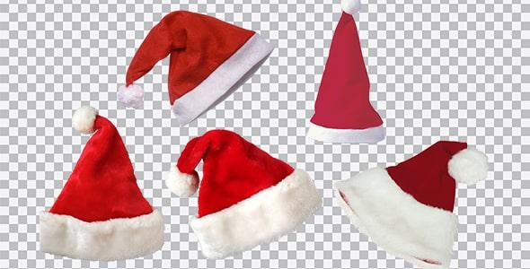 تصویر PNG مجموعه کلاه بابانوئل