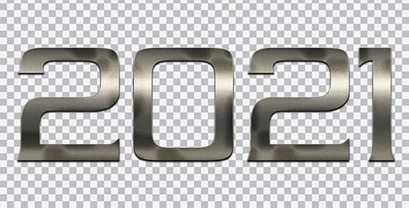 تصویر PNG سال 2021 طرح متالیک