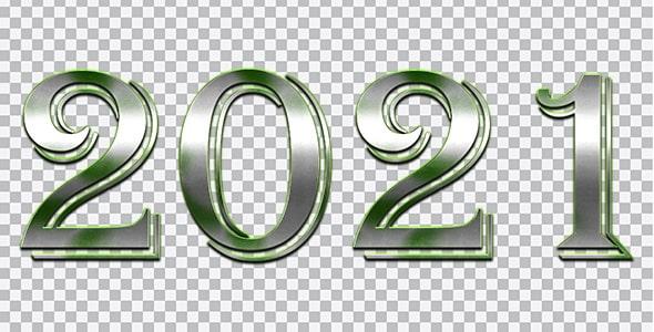 تصویر PNG سال 2021 طرح فلزی