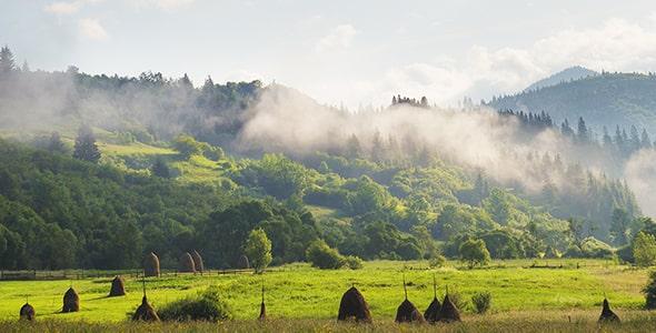 تصویر منظره و طبیعت کارپات در فصل تابستان