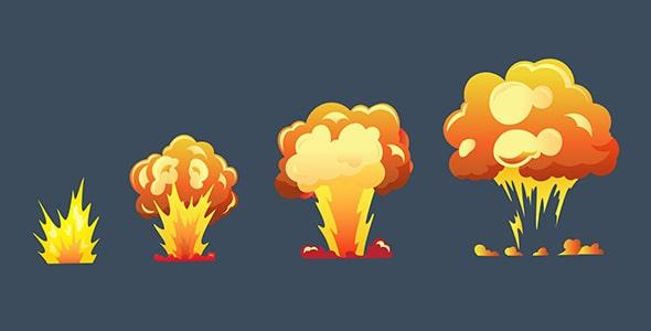 وکتور انفجار بمب در بازی و انیمیشن