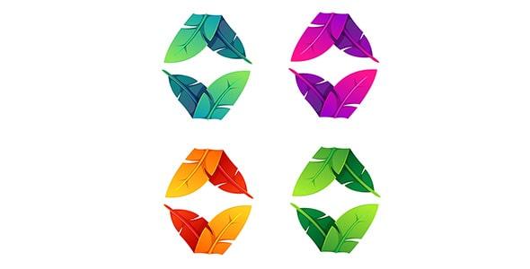 وکتور طرح گرافیکی مجموعه پر رنگی