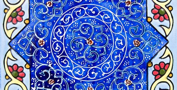 تصویر کاشی و سرامیک قدیمی و تزئینی ایرانی
