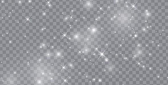 وکتور مجموعه افکت درخشان و نورانی ستاره
