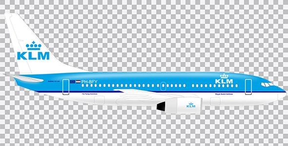 تصویر PNG هواپیمای KLM