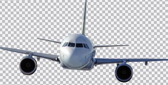تصویر PNG نمای جلو و بیرونی هواپیما