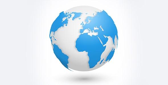 وکتور تصویرسازی نقشه جهان و کره زمین
