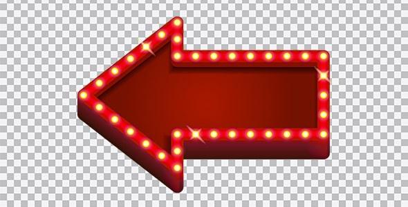 تصویر PNG فلش یا پیکان قرمز