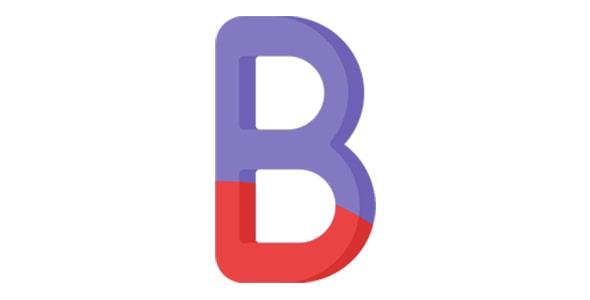 آیکون حرف B الفبای انگلیسی
