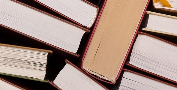 تصویر پس زمینه نمای بالا مجموعه کتاب