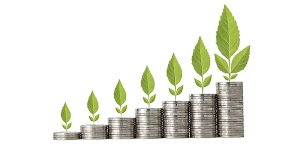 تصویر سکه با مفهوم رشد تجارت و پس انداز