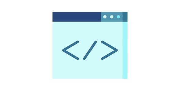 آیکون برنامه نویسی یا کد نویسی