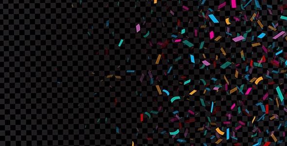 وکتور افکت مجموعه تکه های کاغذ رنگی