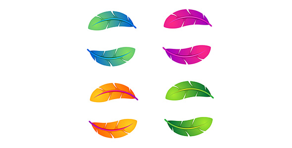 وکتور گرافیکی مجموعه پر رنگارنگ یا رنگی