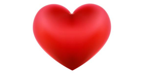 وکتور قلب قرمز با مفهوم ولنتاین و عشق