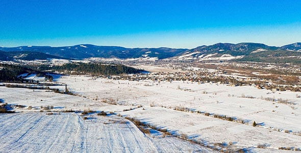 تصویر پس زمینه طبیعت و منظره زمستانی