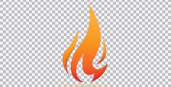 تصویر PNG طرح شعله آتش
