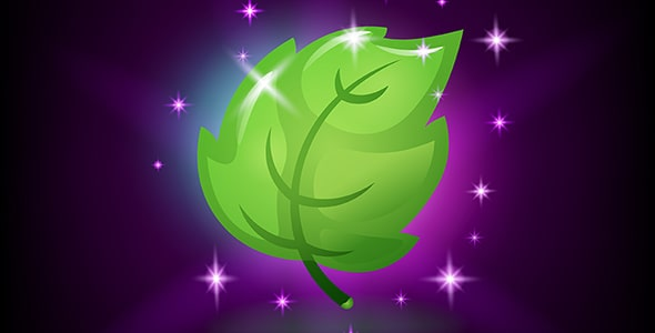 وکتور آیکون برگ سبز