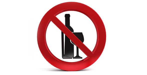تصویر نماد ممنوعیت نوشیدنی الکلی