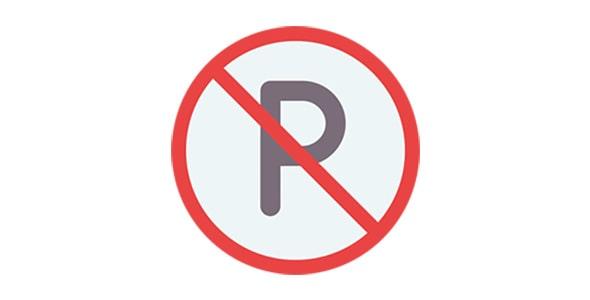 آیکون تابلو راهنمایی پارک ممنوع