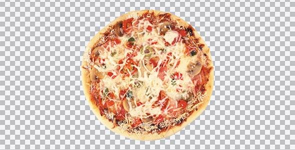 تصویر PNG نمای بالا پیتزا