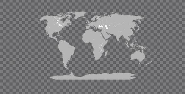 تصویر PNG نقشه جهان و کشورها