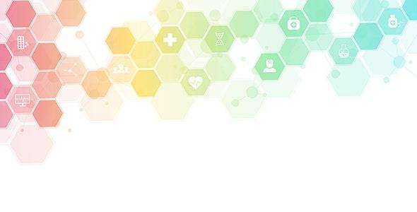 وکتور پس زمینه با مفهوم سلامتی و پزشکی