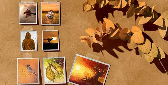 فایل لایه باز موکاپ فصل پاییز و مودبرد