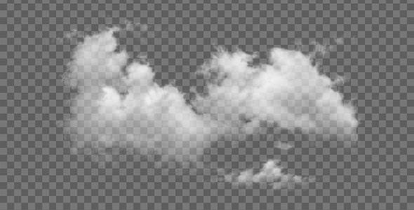 تصویر PNG هوای ابری و ابر سفید