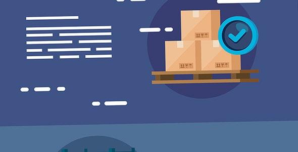 وکتور با مفهوم خدمات بسته بندی و ارسال