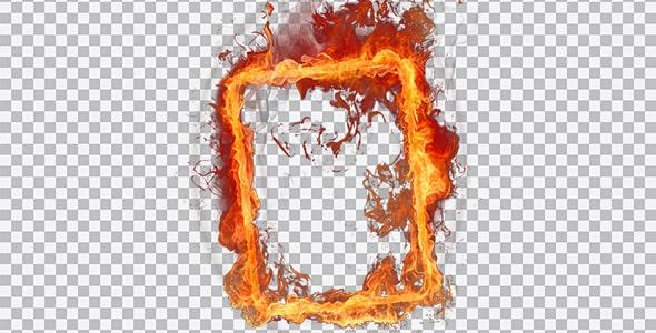 تصویر PNG قاب و فریم آتش