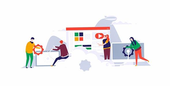 موشن گرافیک طراحی فلت سرور و سایت