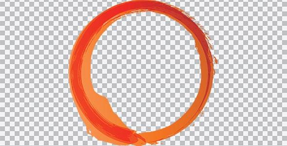 تصویر PNG براش دایره نارنجی