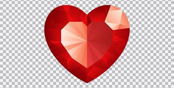 تصویر PNG طرح نگین قلب