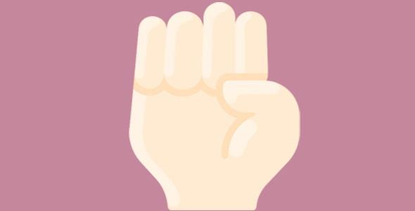 آیکون الفبای دستی ناشنوایان حرف E