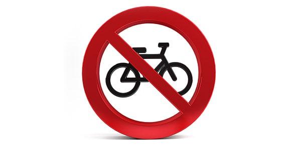 تصویر نماد ممنوعیت دوچرخه سواری