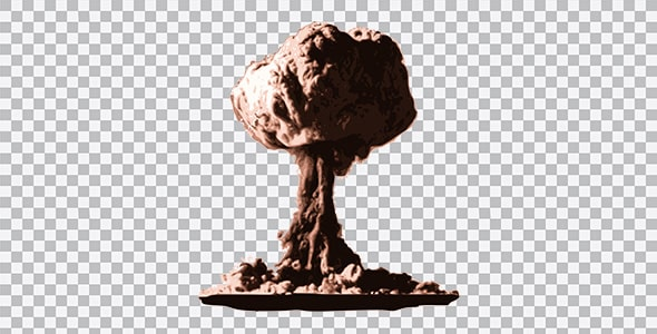 تصویر PNG بمب و انفجار هسته ای