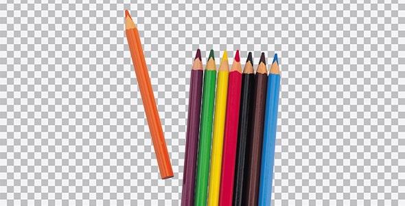 تصویر PNG نمای بالا مداد رنگی