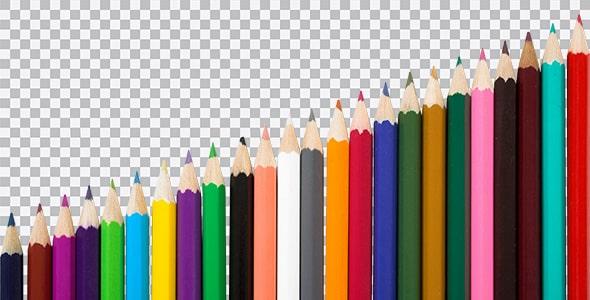 تصویر PNG مجموعه مداد رنگی