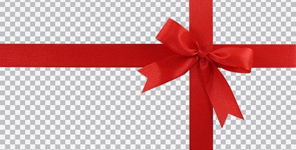 تصویر PNG نمای بالا پاپیون و روبان قرمز