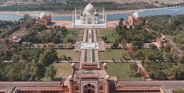 ویدیو نمای بالا تاج محل هند