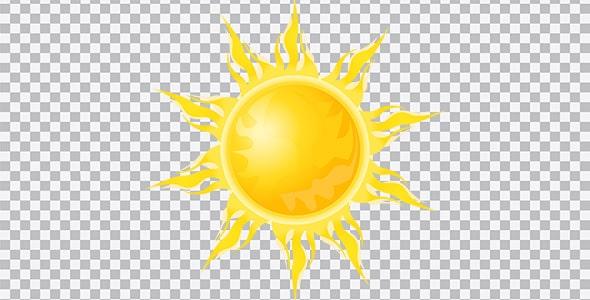 تصویر PNG تابش نور خورشید