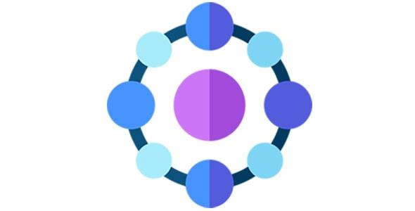 آیکون با مفهوم شبکه دایره ای
