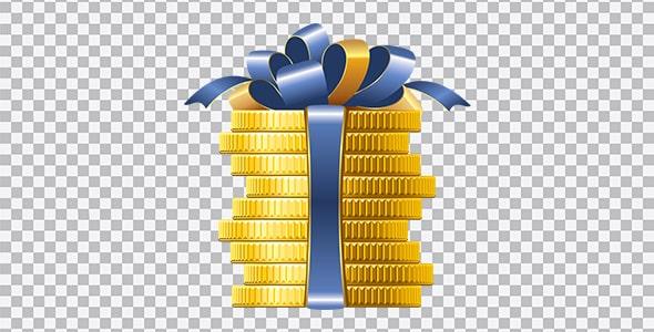 تصویر PNG سکه هفت سین با روبان