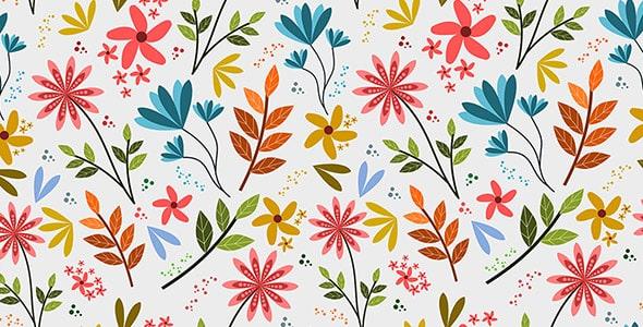 وکتور پترن مجموعه گل های رنگی