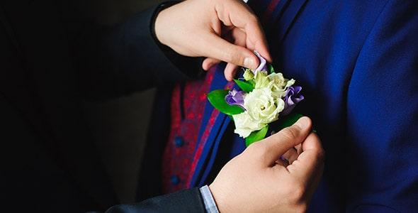 تصویر داماد و آماده شده برای مراسم عروسی