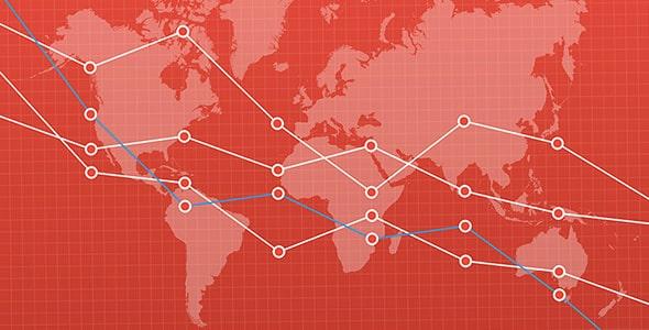وکتور نمودار با نقشه جهان