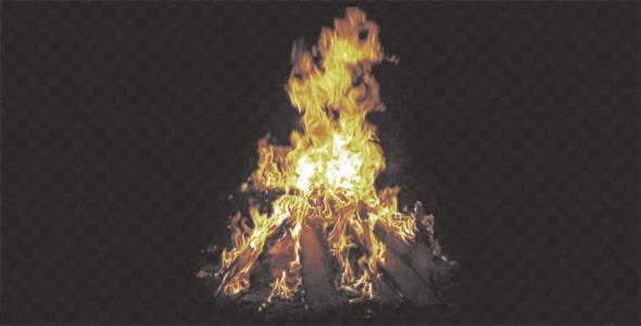 تصویر PNG بلوری شعله آتش