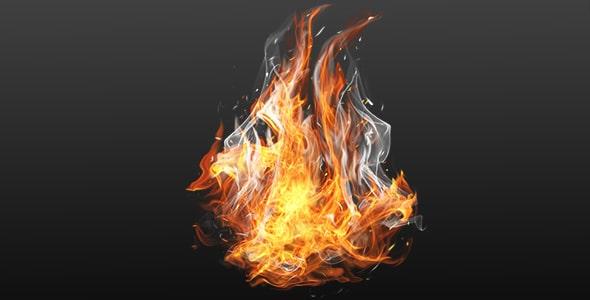 فایل لایه باز طراحی سه بعدی شعله آتش و دود